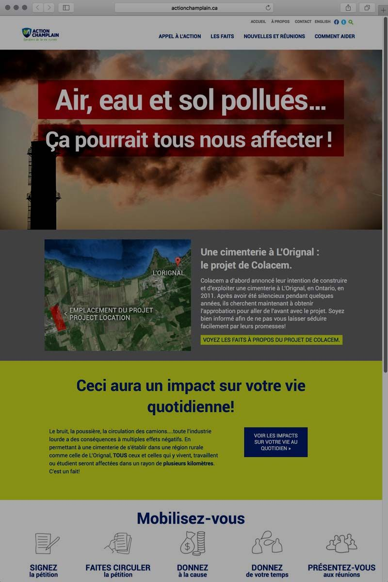Web Action Champlain